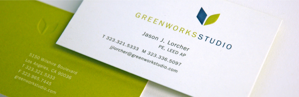 greenworks studio business card