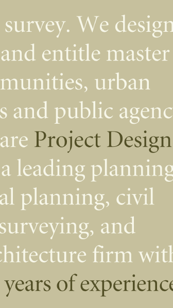 project design consultants typography detail
