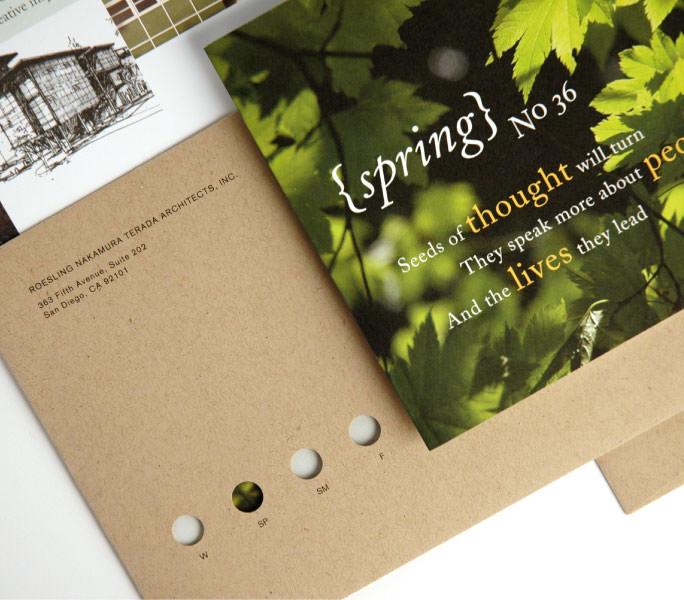 ROESLING NAKAMURA TERADA ARCHITECTS spring postcard