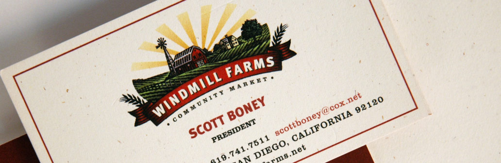 Windmill Farms business card design