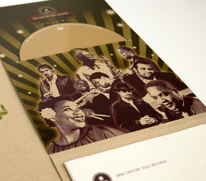 New century Soul records CD Packaging design