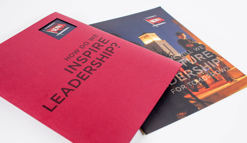 san diego state university promotional brochure  design