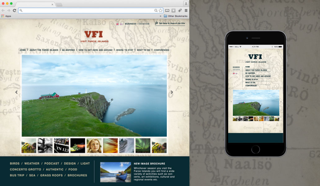 Visit Faroe Islands website design