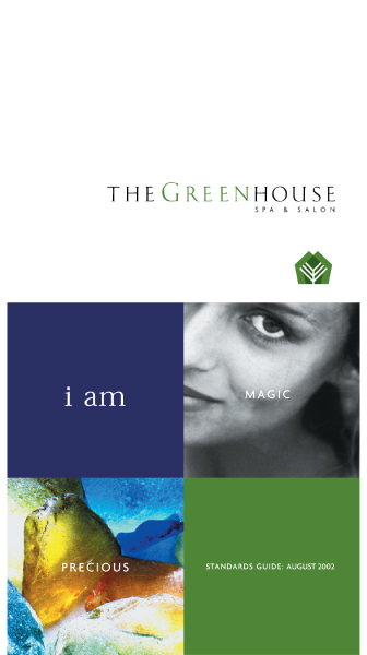 GreenhouseSpa graphic standards cover