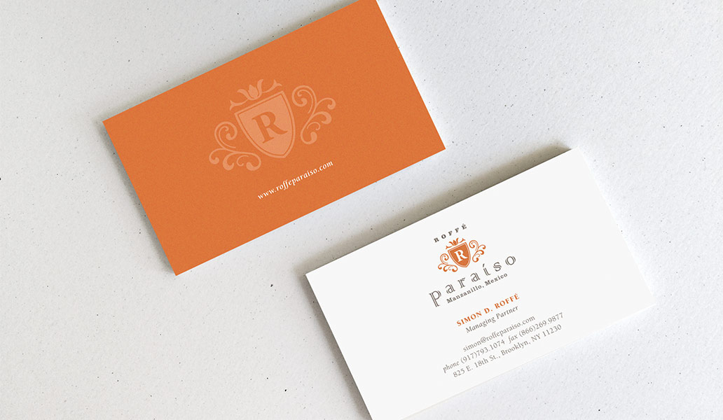 Roffee Paraiso business Cards