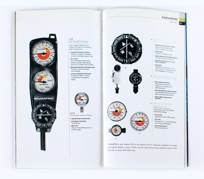 ScubaPro scuba Instruments page