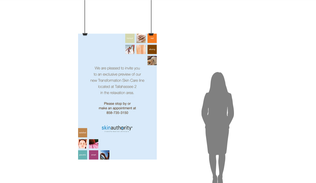 Skin authority Hanging Poster mock up