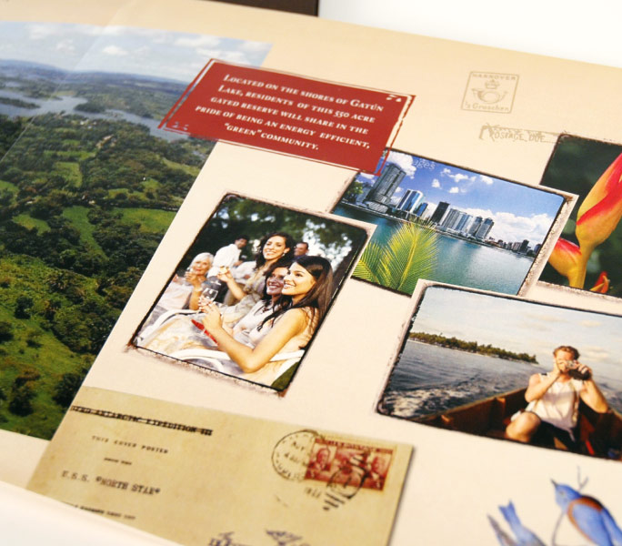 brochure design detial fro The Reserve at Gatún Lake