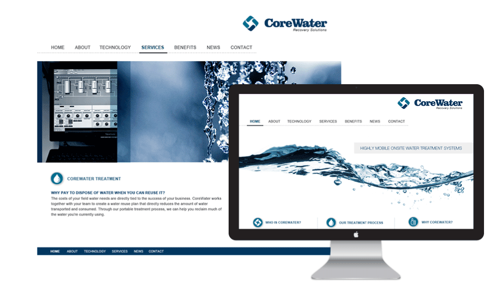 CoreWater Website