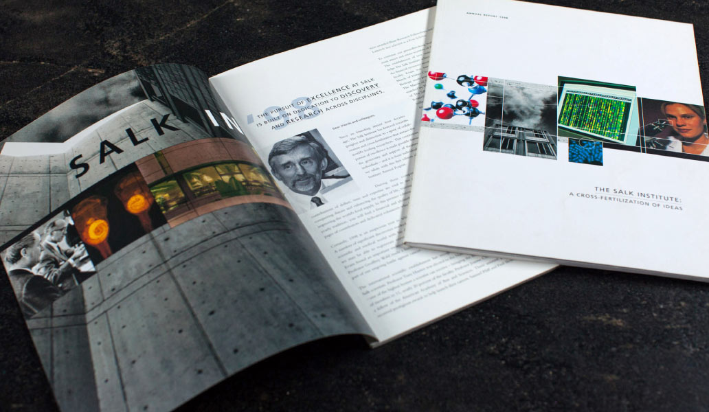 Salk institute brochure design