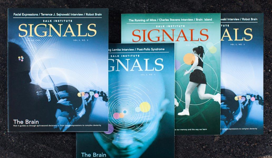 Salk institute signals cover designs