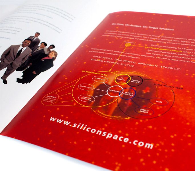 Silicon Space brochure design detail