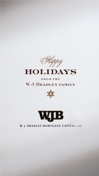 W.J. Bradly Mortgage Capital, LLC holiday cards