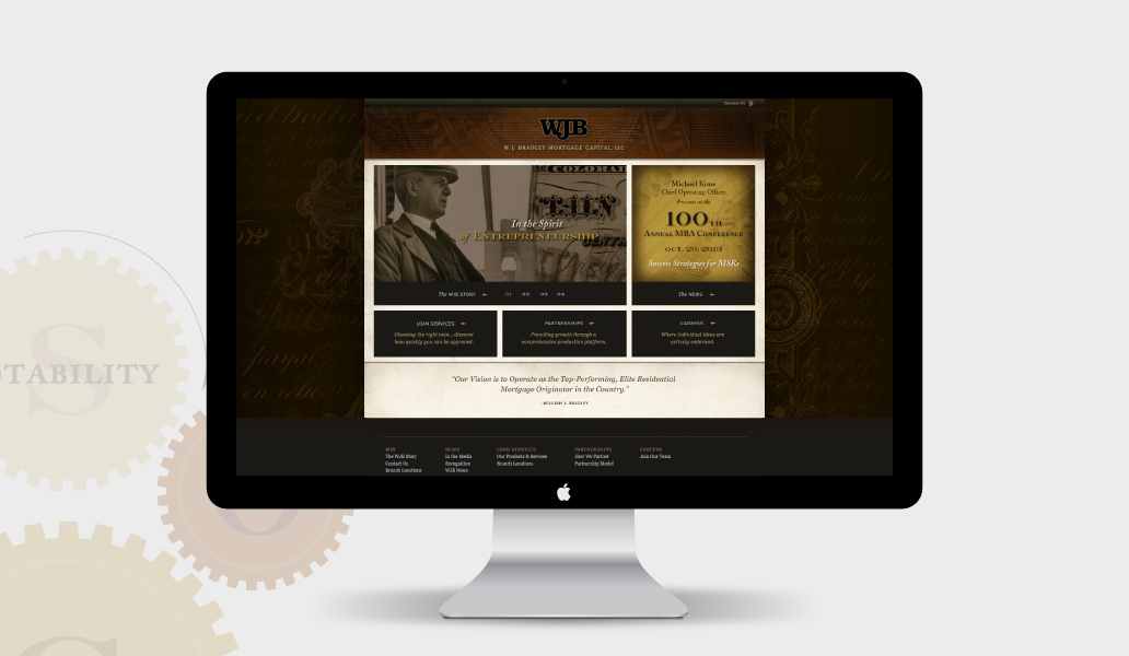 W.J. Bradly website design