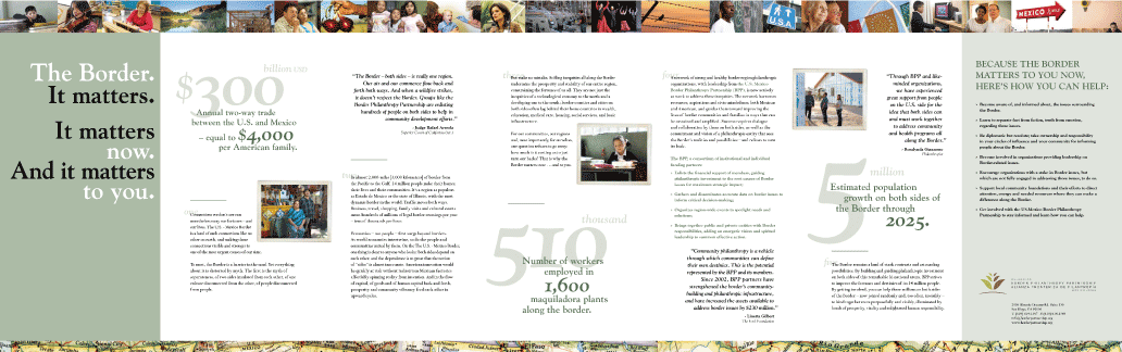 U.S. Mexico Border Philanthropy Partnership brochure design