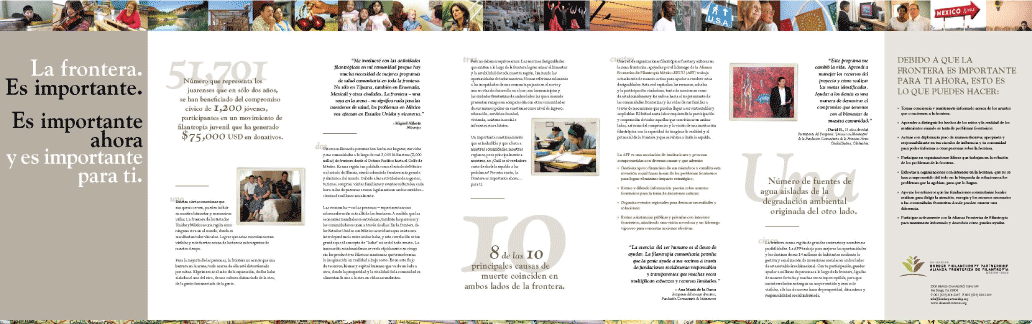 U.S. Mexico Border Philanthropy Partnership brochure in Spanish
