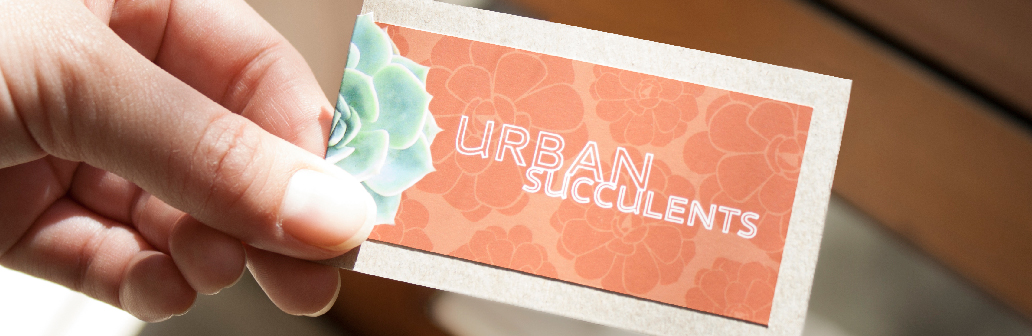 Urban Succulents Business Card