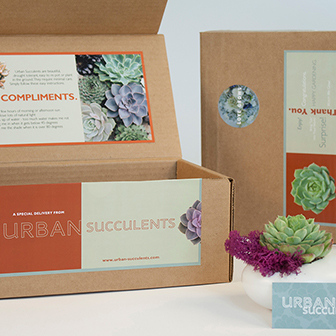 Urban Succulent Package Labels