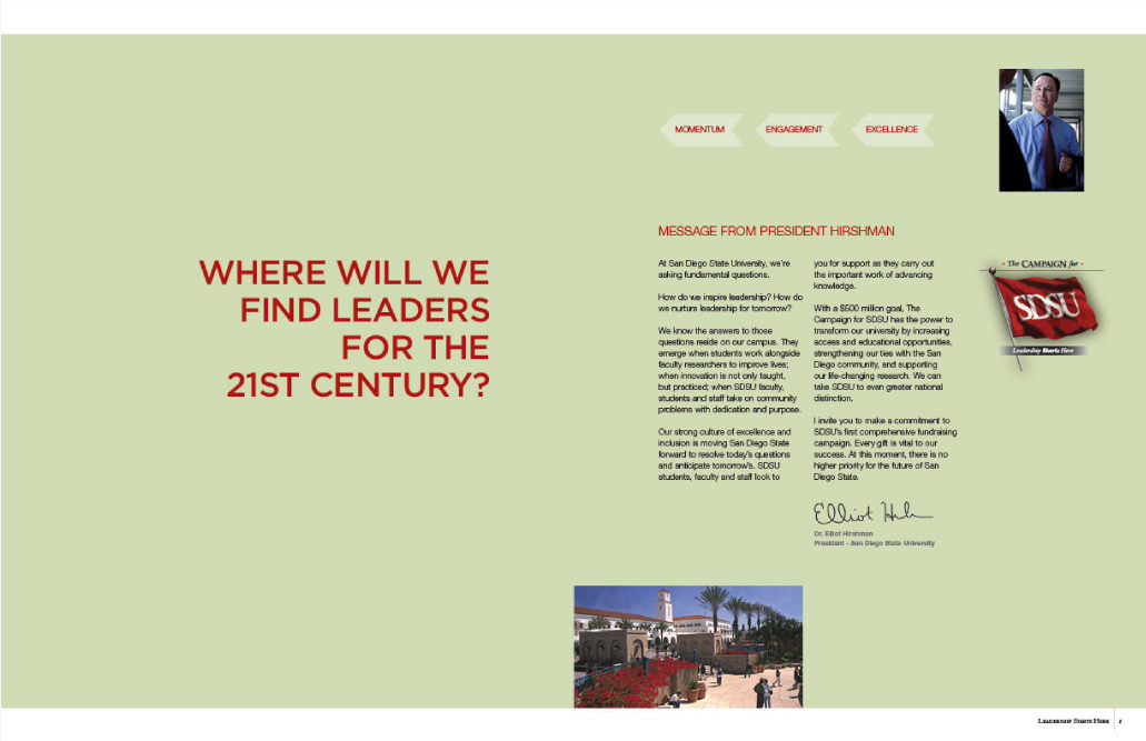 SAN DIEGO STATE UNIVERSITY CAPITAL CAMPAIGN
